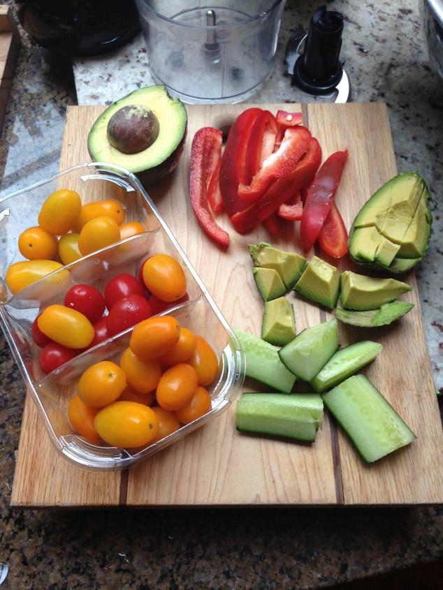 Veggies ready to go